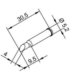 Ponta 4mm para ERSA I-Tool - 0102ADLF40/SB
