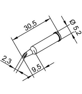 Ponta 2.3mm para ERSA I-Tool - 0102WDLF23/SB