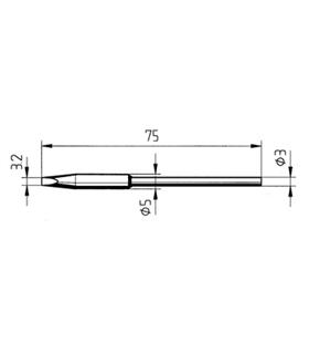 Ponta 3.2mm para ferro MICRO TOOL de estaçoes ERSA - 0212GD/SB