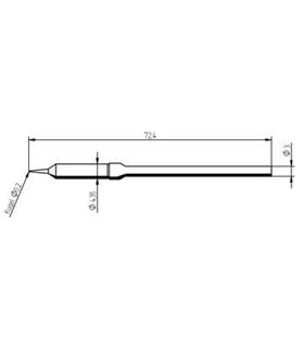 Ponta 0.2mm para ferro MICRO TOOL de estaçoes ERSA - 0212SDLF/SB