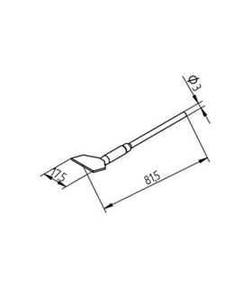 Ponta dessoldar 17.5mm ERSA - 0452FDLF175/SB