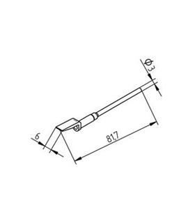 Ponta dessoldar 6mm ERSA - 0452EDLF060/SB