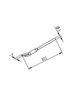 Ponta dessoldar 4mm ERSA - 0452FDLF040/SB