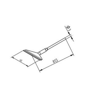 Ponta dessoldar 40mm ERSA - 0452FDLF400/SB