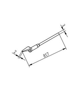 Ponta dessoldar 2mm ERSA - 0452MDLF020/SB