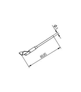 Ponta dessoldar 10mm ERSA - 0452QDLF100/SB