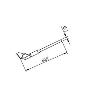 Ponta dessoldar 12.5mm ERSA - 0452QDLF125/SB