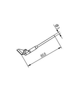 Ponta dessoldar 15mm ERSA - 0452QDLF150/SB