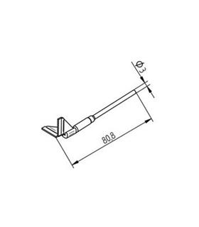 Ponta dessoldar 17.5mm ERSA - 0452QDLF175/SB