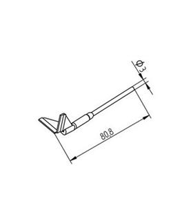 Ponta dessoldar 20mm ERSA - 0452QDLF200/SB