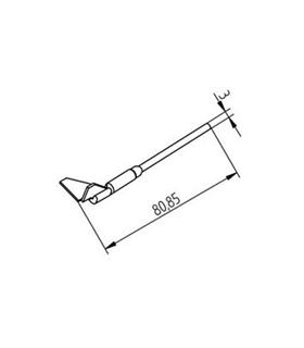 Ponta dessoldar 15mm X 12.5mm ERSA - 0452RDLF150/SB