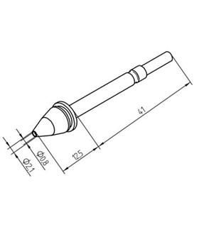 Ponta dessoldar 0.8mm, X-TOOL ERSA - 0722ED0821/SB