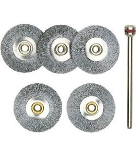 Conjunto de 5 escovas em aço tipo disco - 2228952