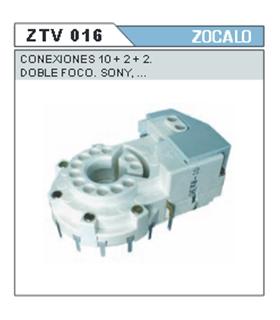 ZTV016 - Suporte de CInescopio Duplo Foco 10+2+2 Pinos - ZTV016