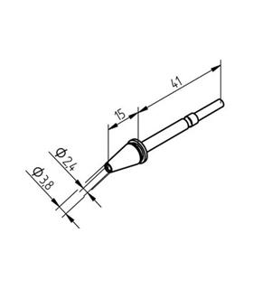 Ponta dessoldar 2.4mm, X-TOOL ERSA - 0722ED2438/SB