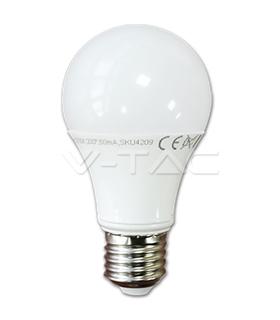 Lâmpadas LED E27 10W Termoplástico Epistar Branco Quente A60 - VT4209