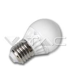 Lâmpadas LED E27 4W Epistar Branco Quente Esférica - VT4207