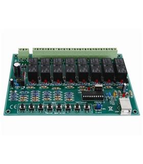 Placa de Reles 8 Canais Usb - VM8090