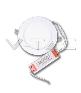Mini Painel 8W Branco Neutro Redondo S/ Driver - VT4822