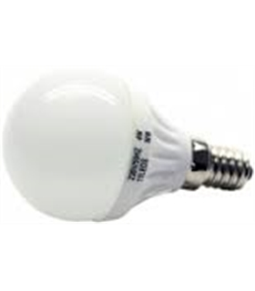 Lâmpada E14 LED esférica opalina 230VAC 4W 3000K 380lm - 306-1736