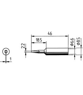 Ponta 2.2mm para ferros e estaçoes ERSA Pack 10un - 0832CD/10