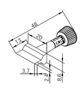 Ponta 20mm para ERSA I-Tool - 0102ZDLF200/SB