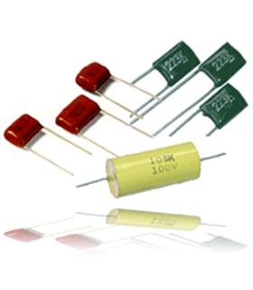 Condensador Poliester 22Nf 630V Axial para Audio - 31622630A