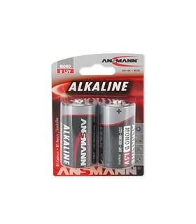 Pack 2 Pilhas Alcalinas LR20 -  Ansmann - 15140000