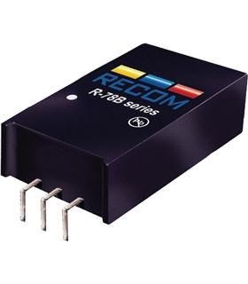 R-78HB5.0-0.5L - DC/DC CONV, 2.5W, 5V, 0.5A, SIP - R-78HB5.0-0.5L
