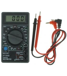 Mini Multimetro Digital HFE/Vdc/Vac/A/OHM - DT830B