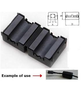 Filtro de ferrite para cabo redondo Ø10mm - FERRITE10
