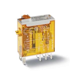 Relé Finder 24VAC/2C/8A Industrial c/ indicador mecânico - F4652824