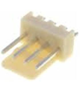 Ficha Pin Socket 4 Pinos p/ Circuito Impresso 2.54mm 4 pinos - 69PS4MCI
