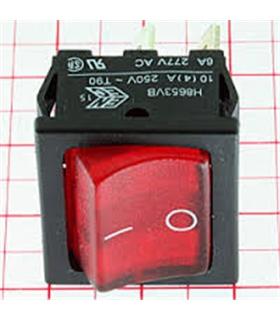 Interruptor Basculante Medio Duplo Luminoso Vermelho - 914BMDLR