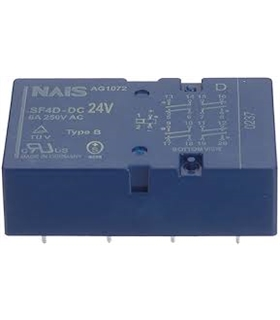 SF4-D-24 - RELAY, FORCED CONTACT, 4PCO, 24VDC - SF4D24