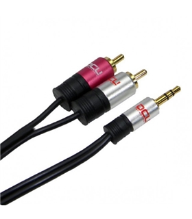 DCU30101220 - Cabo Audio 3,5 ST M / 2 RCA M 1mt - DCU30101220