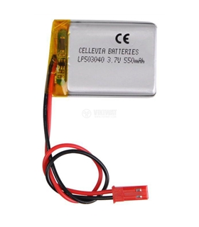 MX503040 - Bateria Recarregavel Li-Po 3.7V 550mAh 5x30x40mm - MX503040