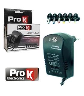 ALIMENTADOR 220VAC - 3/4.5/6/7.5/9/12V 1.2A 15W PROK - ACK1200
