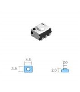 pulsador smd 3,5x4,5mm, Altura total 2,0mm - SWD18