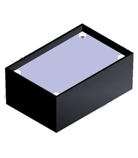 Teko K/1 - Caixa Plástico ABS c/tampa Aluminio 85X56X35.5 - K1