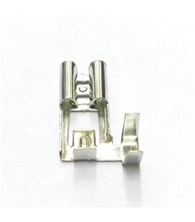 Terminal Faston Femea 90º, 6.3mm, 0.8mm, 0.5÷1mm2, cravar - 69TFAR