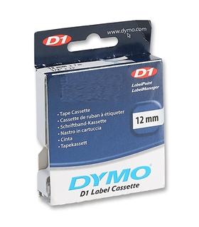 DYMO  45020  TAPE, WHITE/CLEAR, 12MM - MX45020