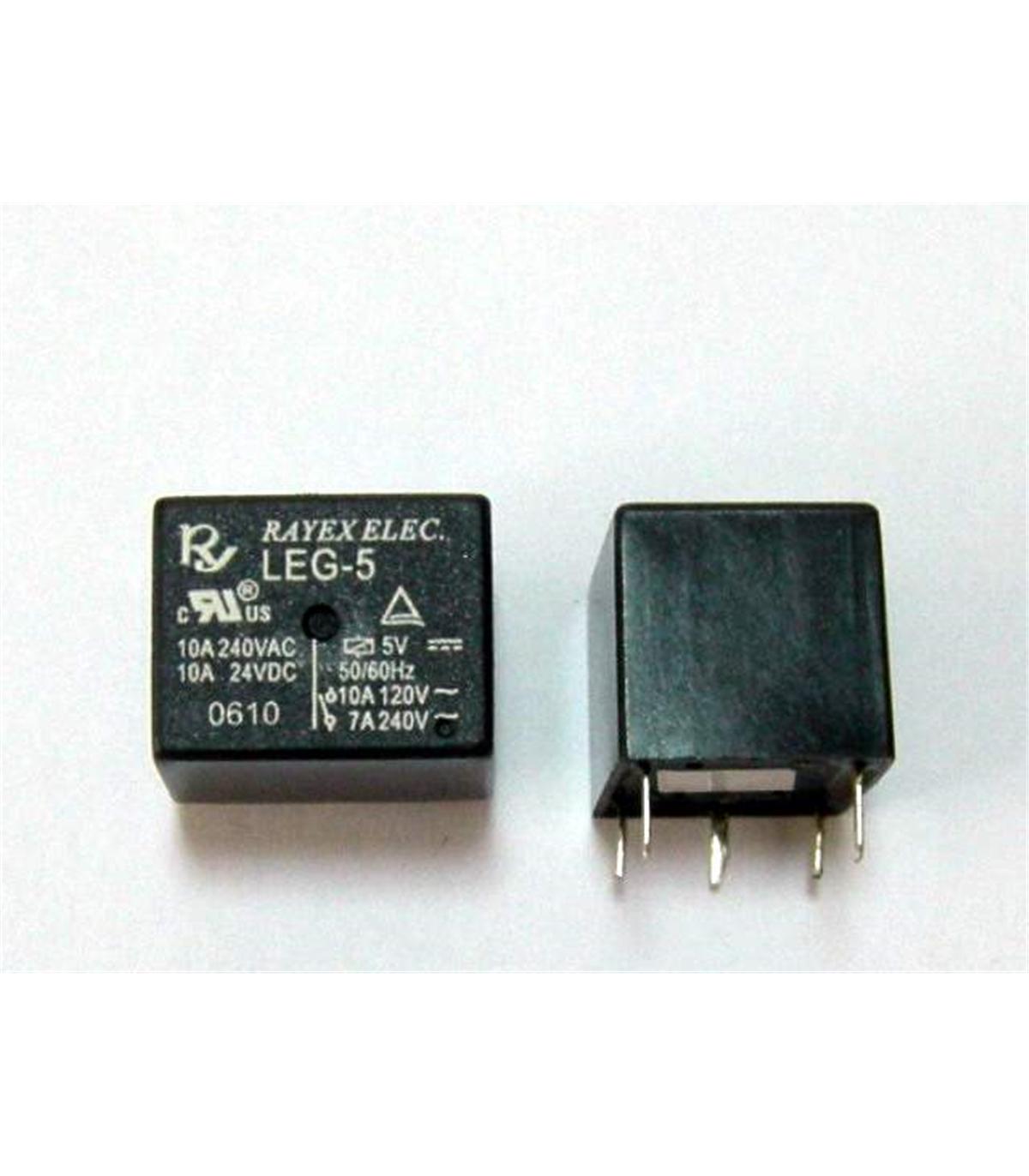 leg 5 relé electromagnético 5vdc 7a 240vac spdt electronica