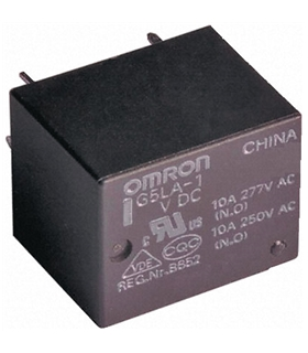 G5LA145DC - RELAY, 10A, SPDT, SEALED, PCB, 5V - G5LA145DC