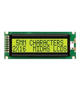 MC21605J6W-SPR - Alphanumeric LCD Display, 32, 16 x 2 - MC21605J6W-SPR
