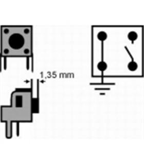 Pulsador 6x6x(3,35)mm, vertical, 2 pinos + massa - SW70