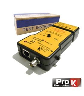 MS6810 - Testador Cabos Rede BNC/UTP/STP - MS6810