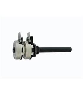 Potenciometro Rotativo Duplo 4K7 OHM C/Veio Comprido - 16204K7D