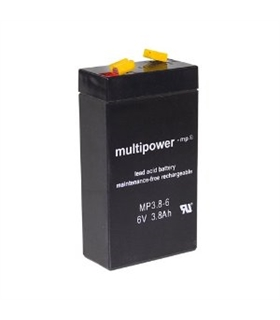 Bateria 6V 3.8Ah 65x118x33mm - 63.8