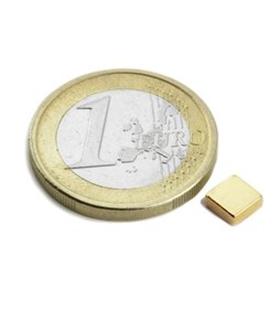 Iman - Quadrado 5x5x2mm. Magnetisado em Neodimio, N42 - 650g - MXQ050502G